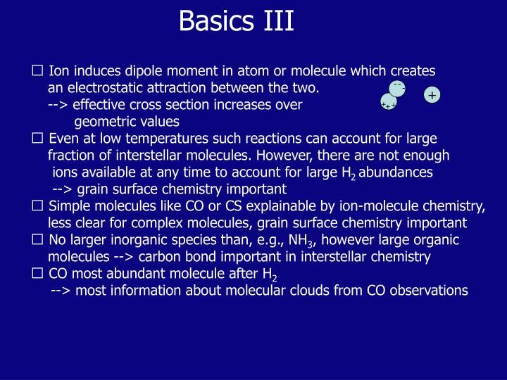 Basics III