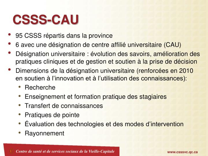 CSSS-CAU