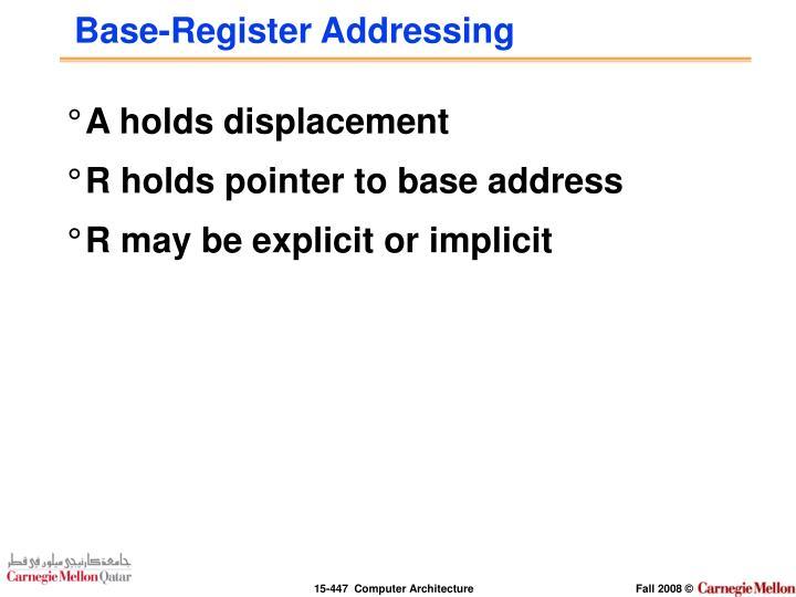 Base-Register Addressing