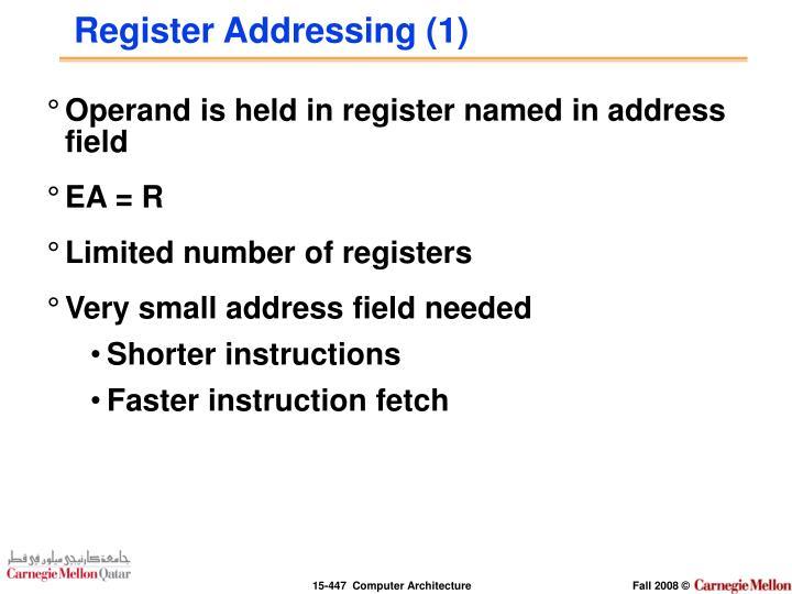 Register Addressing (1)