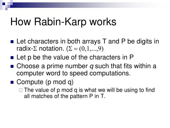 How Rabin-Karp works