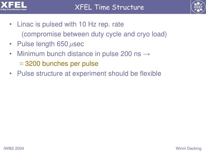 XFEL Time Structure
