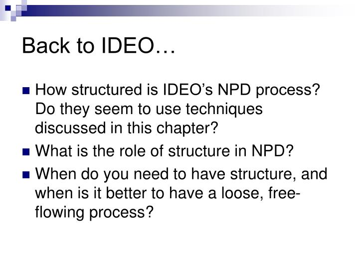 Back to IDEO…