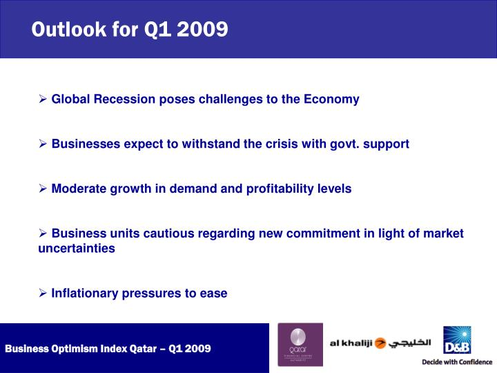 Outlook for Q1 2009