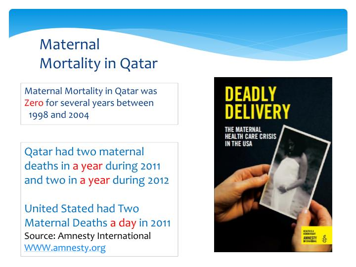 Maternal Mortality in Qatar