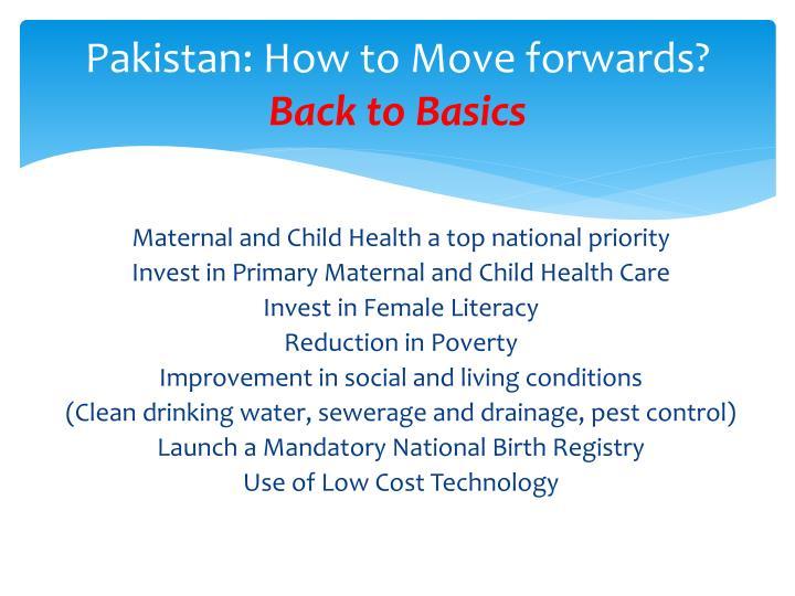 Pakistan: How