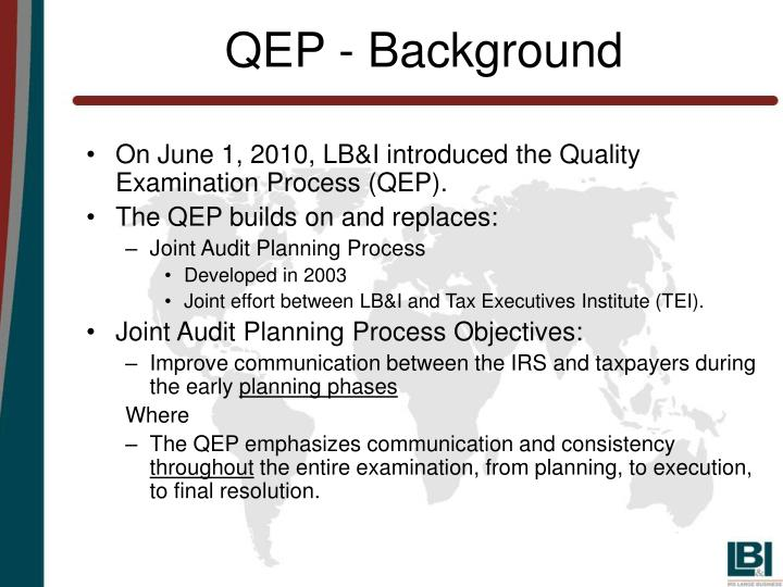 QEP - Background