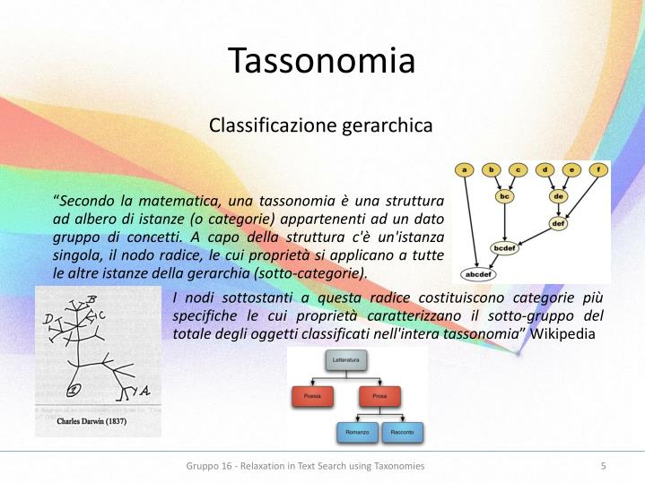 Tassonomia
