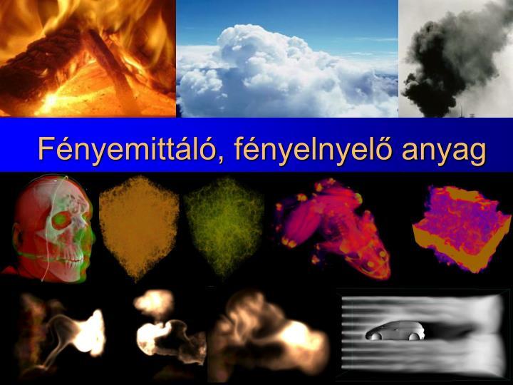 Fényemittáló, fényelnyelő anyag