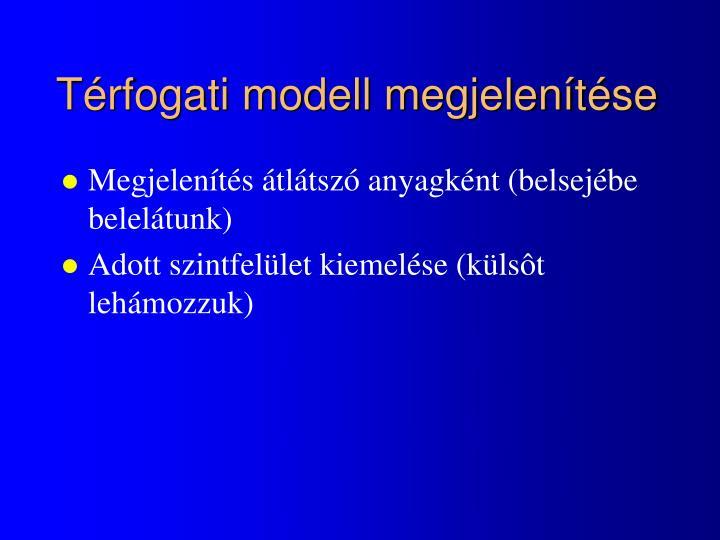 Térfogati modell megjelenítése