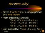 bell inequality