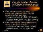 conceptual problems of quantummechanics