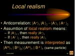 local realism