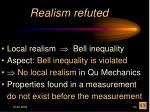 realism refuted