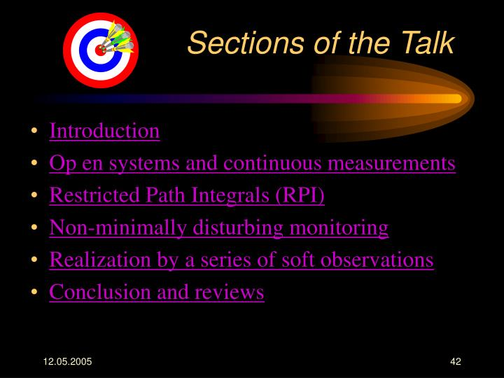 Sections of the Talk