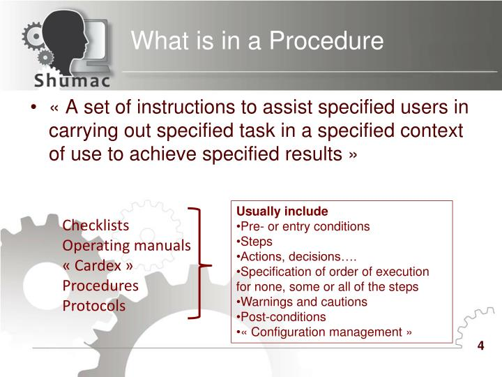 What is in a Procedure
