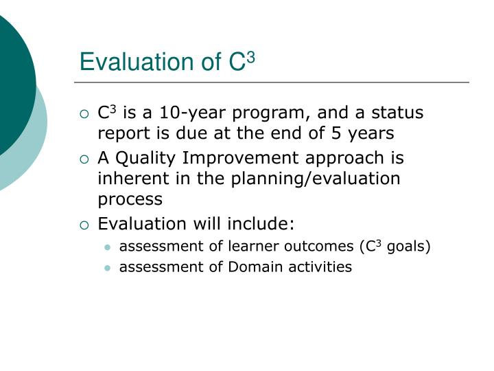 Evaluation of C