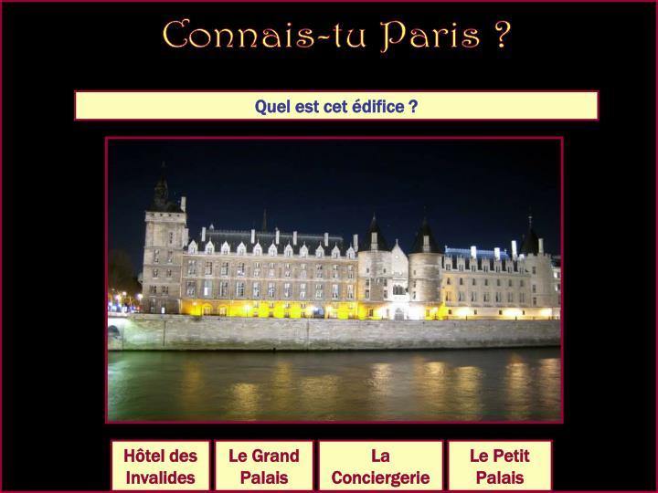 Connais-tu Paris ?