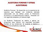 auditoria forense y otras auditorias