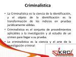 criminal stica