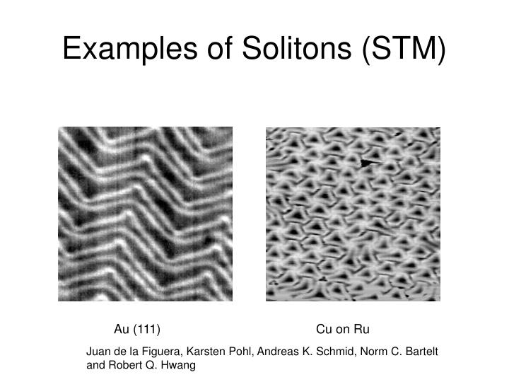 Examples of Solitons (STM)