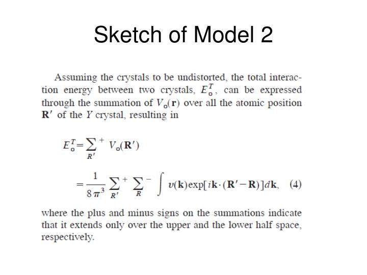 Sketch of Model 2