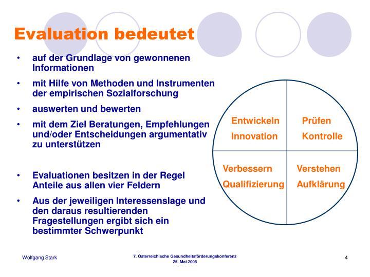 Evaluation bedeutet