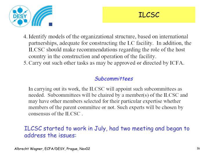 ILCSC