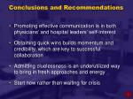 conclusions and recommendations