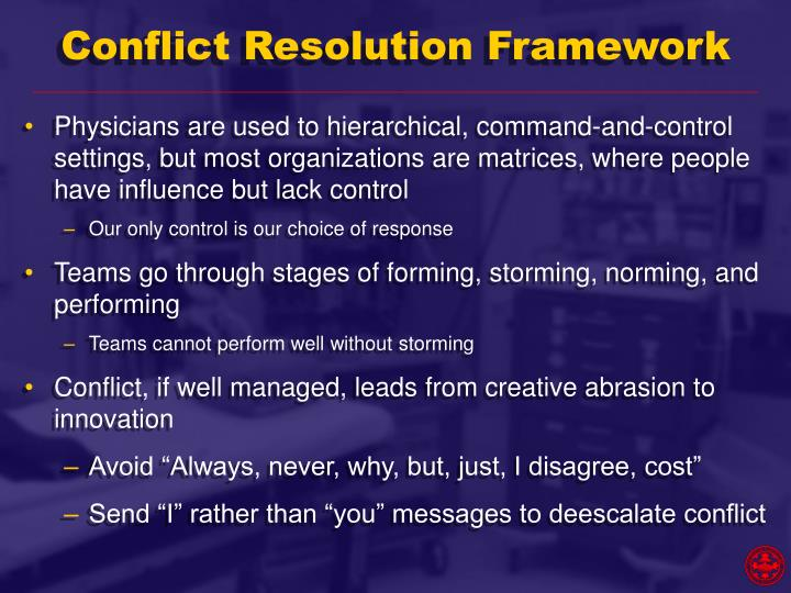 Conflict Resolution Framework