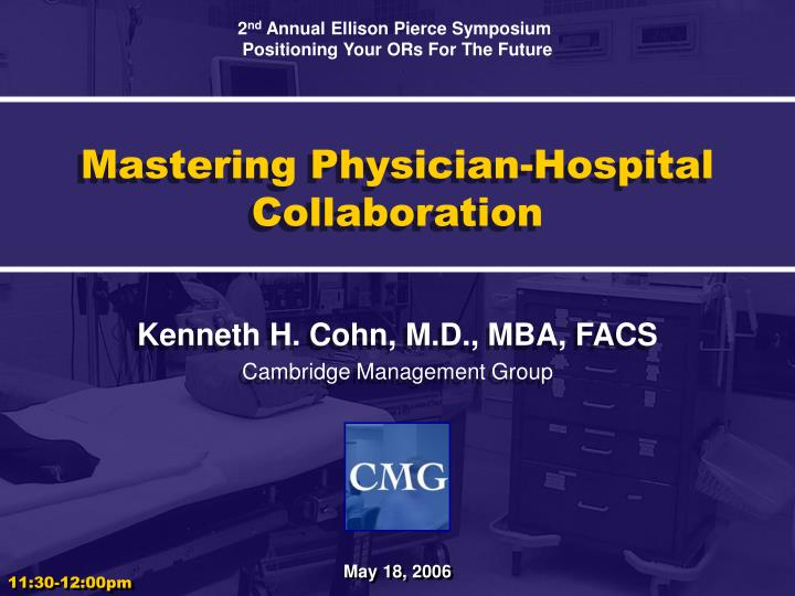 Mastering physician hospital collaboration