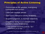 principles of active listening