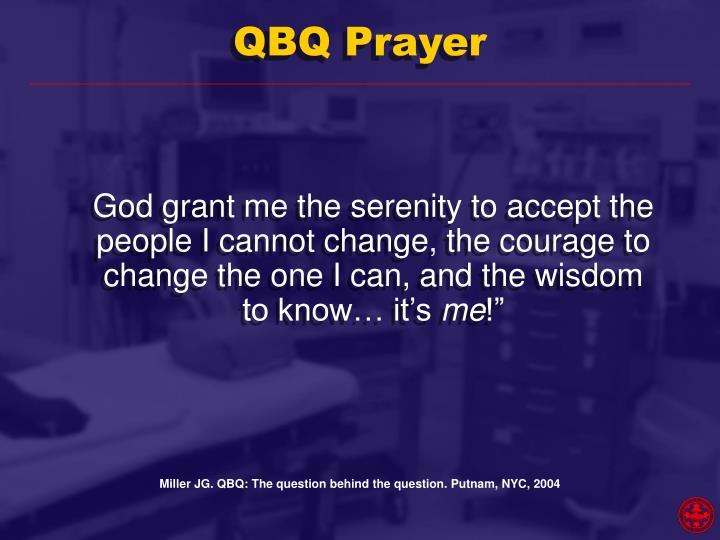 QBQ Prayer