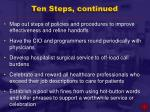 ten steps continued