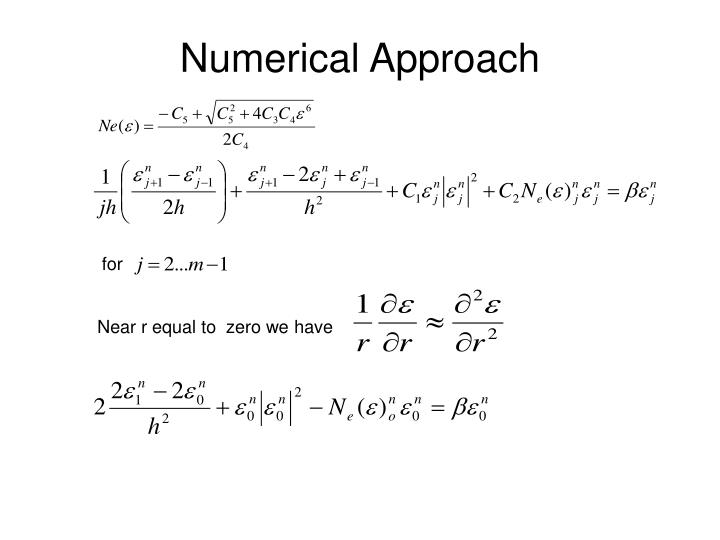 Numerical Approach