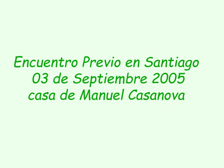 Encuentro Previo en Santiago