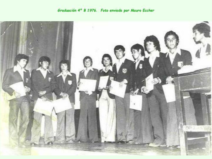 Graduación 4º B 1976.  Foto enviada por Mauro Eccher