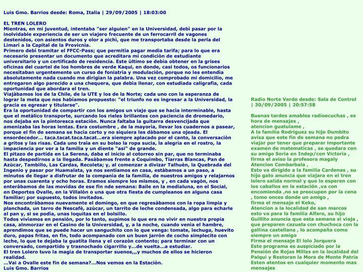 Luis Gmo. Barrios desde: Roma, Italia | 29/09/2005 | 18:03:00