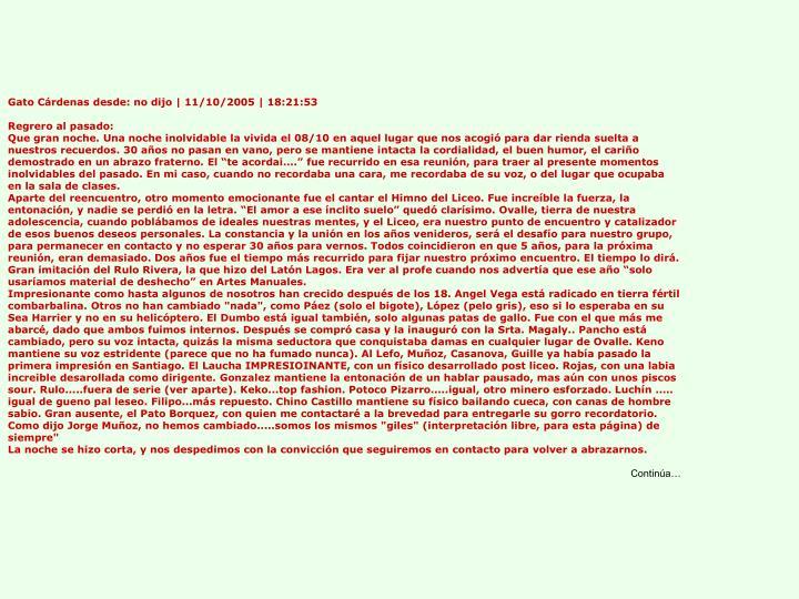 Gato Cárdenas desde: no dijo | 11/10/2005 | 18:21:53