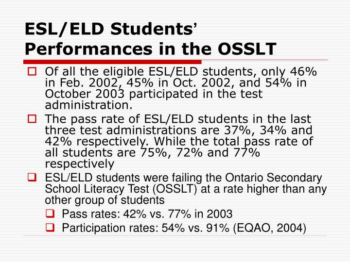 ESL/ELD Students