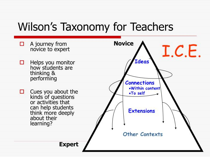 Wilson's Taxonomy for Teachers