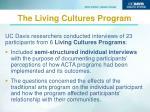the living cultures program