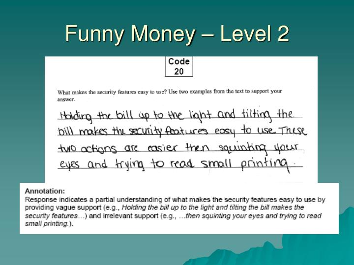 Funny Money – Level 2