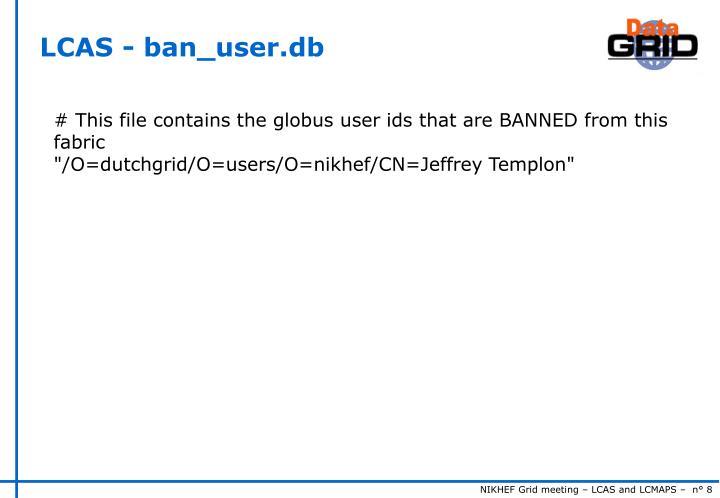 LCAS - ban_user.db