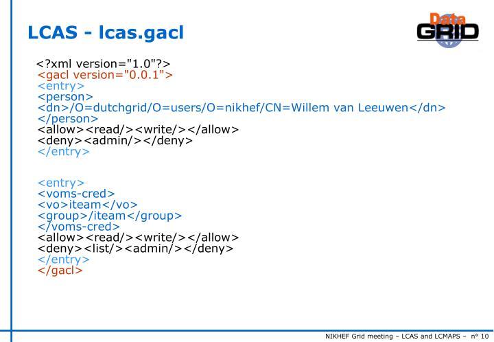 LCAS - lcas.gacl