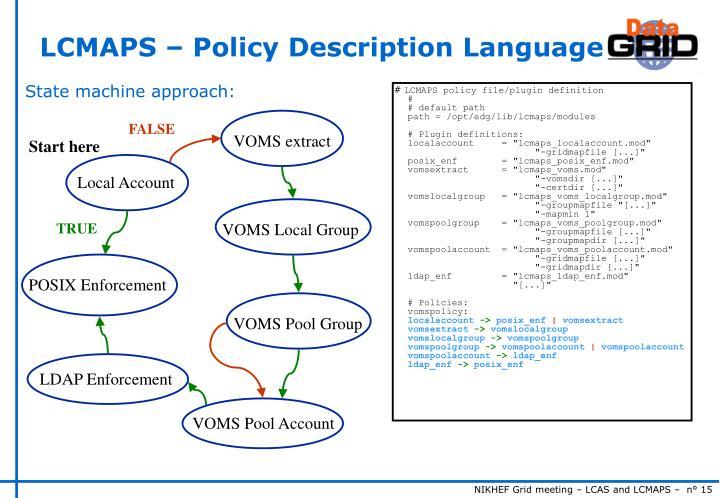 LCMAPS – Policy Description Language