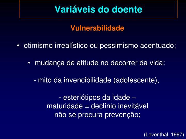 Variáveis do doente