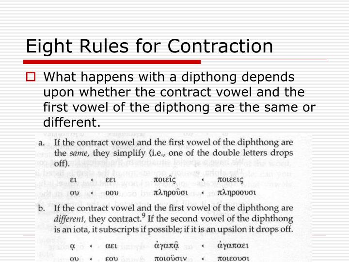 Eight Rules for Contraction