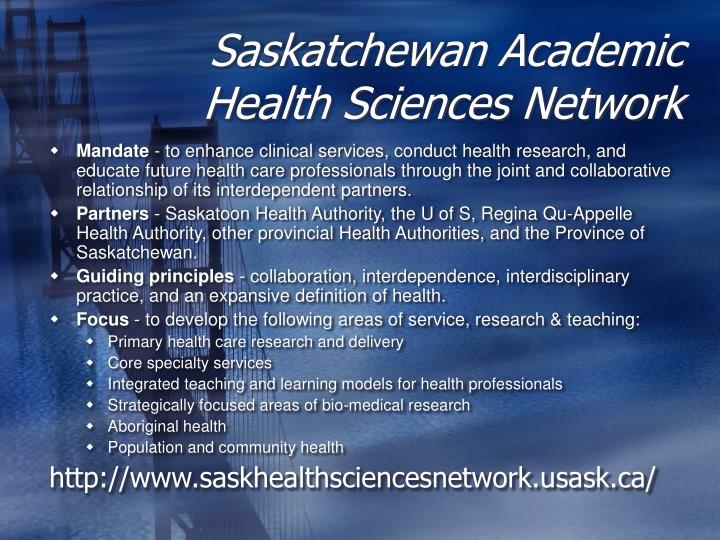 Saskatchewan Academic Health Sciences Network