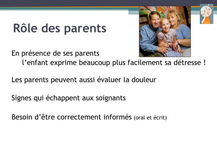 Rôle des parents